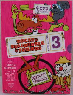 DVD Box Set Rocky & Bullwinkle Complete Season Three 4 discs 33