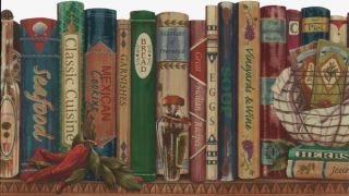 Cookbooks & Herbs Kitchen Wallpaper Border