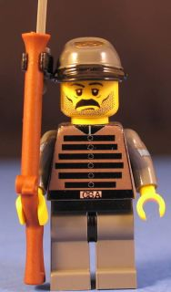 LEGO® brick cus CIVIL WAR CONFEDERATE INFANTRY Sergeant
