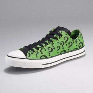 CONVERSE All Star Batman Riddler Low Trainers Green Sz UK 3 RRP £57