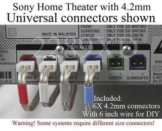 6c sony home theater speaker cable connectors 4,2 4.2mm