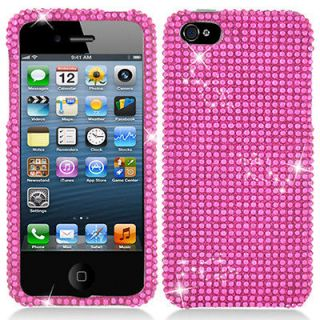 Newly listed Hot Pink Bling Diamond Hard Case Cover For Apple iPhone 5