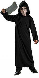 Childs Horror Robe Hood Hooded Halloween Costume Reaper Scream Black