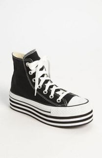 CONVERSE MEN WOMEN CT PLATFORM HI BLACK WHITE ORIGINAL