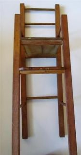 Antique Wooden Doll Chair with High Seat