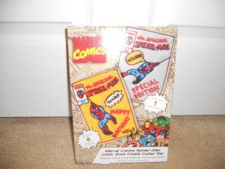 NEW Williams Sonoma Marvel Comics Cookie Cutter Set Spiderman