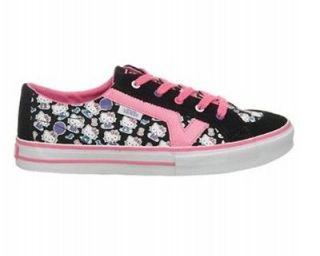 Vans Hello Kitty Tory Authentic Shoes Kids Black Pink WhiteVN 0F7773 E