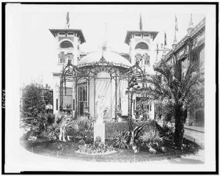 Rear view,Pavilion, Monaco,garden, statue,Virgin Mary,Paris Exposition