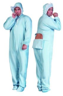 BIG GIANT BABY JAMMIES COSTUMES BLUE PINK ADULT BABY COSTUME PAJAMAS