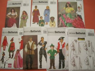 Butterick Patterns Costumes YOU CHOOSE B3906 B4319 B4542 B4574 B4632
