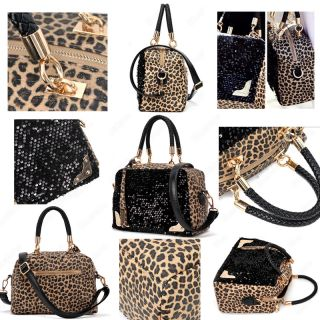Luxury womens Tote/Shoulder Hand Bag Lady Leopard Fashion Style
