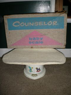 Vintage Counselor Baby Scale Box Cloth