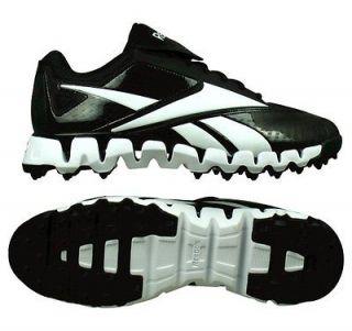 Reebok Mens Zig Cooperstown Quag Black/White Baseball Shoes