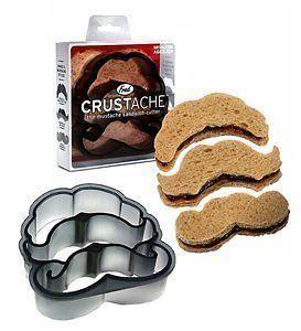 & Friends CRUSTACHE Mustache Shaped Crust Sandwhich & Cookie Cutter
