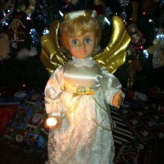 Newly listed Vintage Animated Angel Figure Holiday Decor