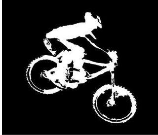 Mountain Bike Silhouette Decal 6 MTB Cycling Sticker