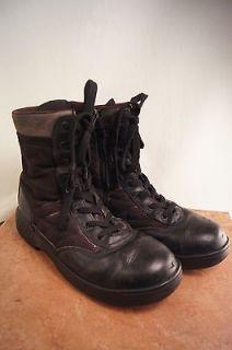 Black Steel Toe Combat 10 11 ??? Mens Work Military Paratrooper
