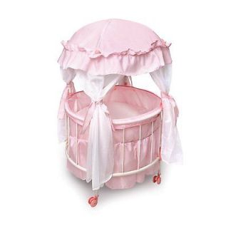Royal Pavilion Round Baby Doll Crib Canopy Bedding Toy Child Pink