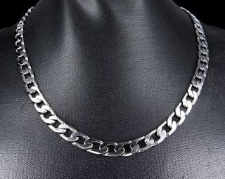 19 5mm 18K white gold plated XP Cuban Link Necklace