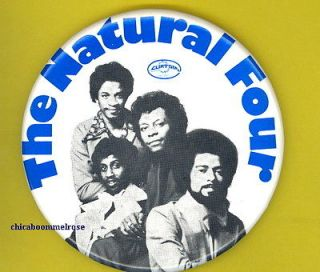 Natural Four The 1972 OFFICIAL pinback button badge SS Curtis Mayfield