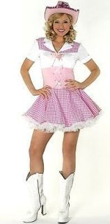 Dolly Parton Cowgirl Fancy Dress Costume & Hat UK 10 12