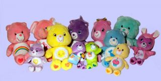 CARE BEARS & COUSINS ~ PLUSH MODERN & VINTAGE & TALKING 11.5 14 GIFT