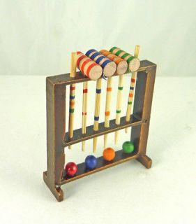 Dollhouse Miniature Croquet Set Toy