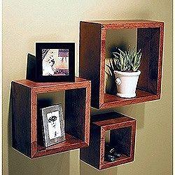 wall mount floating chain shelves rustic western decor. Black Bedroom Furniture Sets. Home Design Ideas