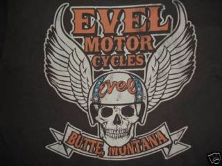 Junk Food Evel Knievel Cycles T Shirt Men Black Small