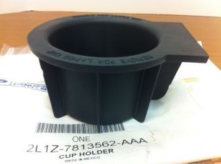 Ford F 150 Floor Console Front Rubber Cup Holder INSERT Liner OEM new