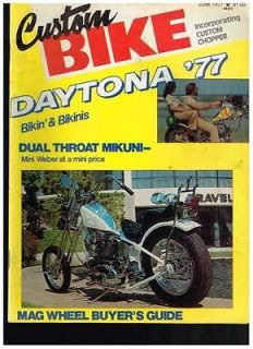 CUSTOM BIKE JUNE 1977 NOR CAL DIGGERS BAY AREA CUSTOMS 70s CHOPPERS