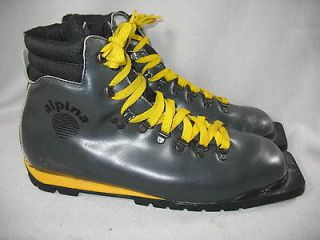[ ~us mens 10 ] Alpine Ankle High 75mm 3 Pin Cross Country Ski Boots