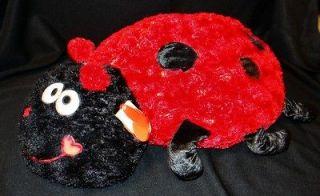 NEW Dan Dee Jumbo 21 Plush Pillow LADYBUG Pet Red Black SOFT & CUDDLY