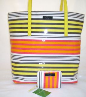 Kate Spade Handbag BON SHOPPER Daycation MULTISTRIPE & MINI NEDA