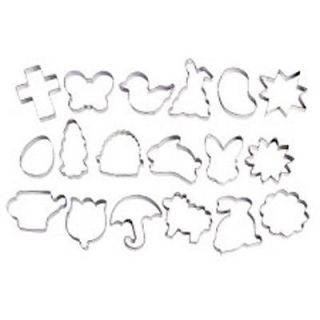 Wilton Easter 18 pc Metal Cookie Cutter Collection Set Cross Butterfly