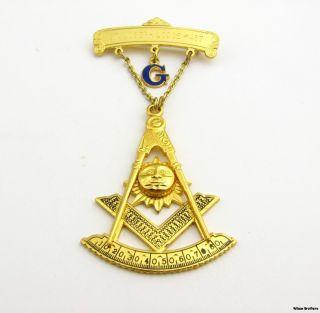PAST MASTER   Vintage St Joseph Lodge Jewel Masonic Medal Sun Quadrant
