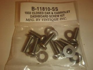Ford Closed Car Dashboard Screw Kit 32
