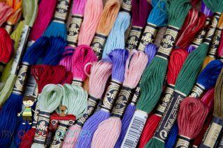 DMC Embroidery Floss Colors 208 336 Friendship Bracelet Cross Stitch