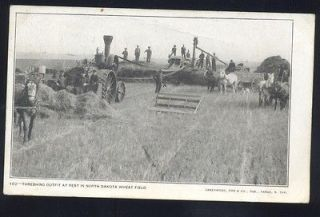 WIMBLEDON NORTH DAKOTA HORSE DRAWN FARMING FARM MACHINERY VINTAGE