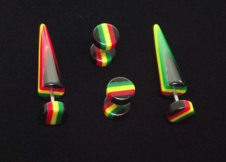 rasta belly button rings