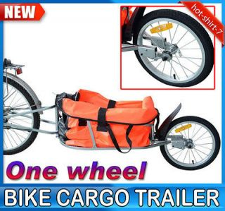 Steel Bike Bicycle Cargo Trailer One Wheel Portable Bag Cart Garden