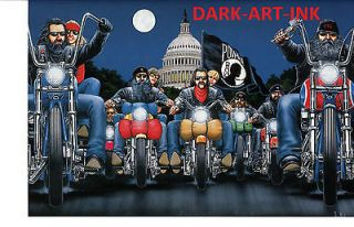 David Mann Art Run To The Wall Easyriders Print Harley Davidson POW