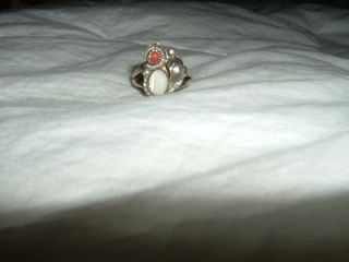 Newly listed SOUTHWESTERN SILVER RING WITH TWO STONES VINTAGE JEWLERY