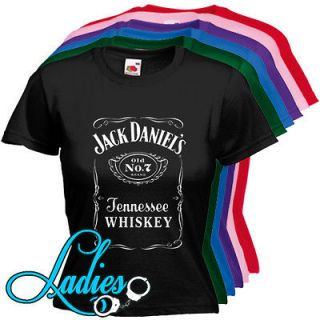 254 Jack Daniels Tennessee Whiskey Label Woman Fit 6 Colors T shirt