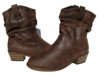 Womens Brown Designer Western Boots shoes winter snow Ladies size
