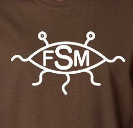 Flying Spaghetti Monster T Shirt Pastafarianism Atheism FSM cotton tee