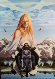 David Mann Art Motorcycle Poster Eyes In The Sky Easyriders In the