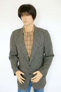 Check Harris Tweed Blazer Jacket Indie Retro Gent Dapper Dr Who 40