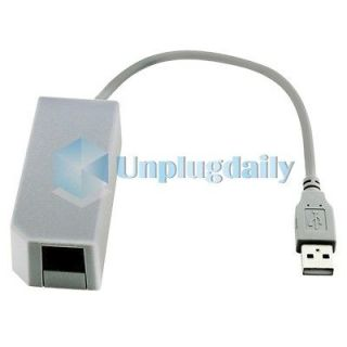 Newly listed USB Internet LAN Network Adapter Connector For Wii New