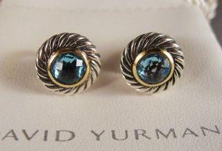 David Yurman Blue Topaz Cookie Earrings